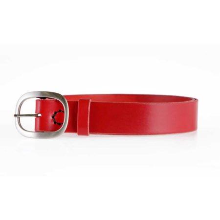 """Ceinture - ceinturon rouge en cuir """"Claudine"""""""