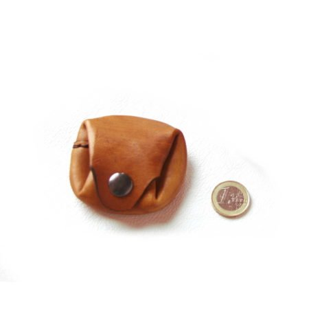 Mini porte-monnaie de poche en cuir
