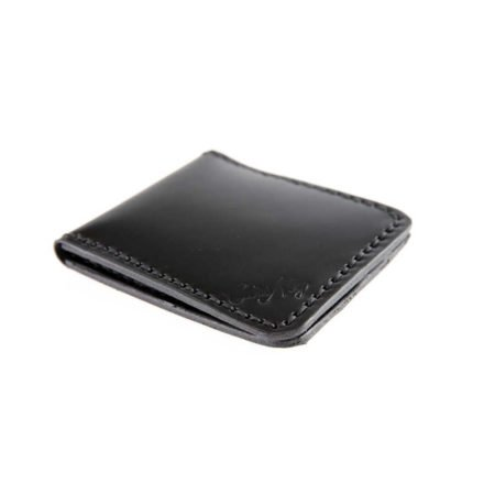 Porte cartes bancaires en cuir noir