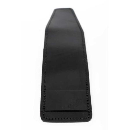 Porte chéquier long, cuir noir, plié