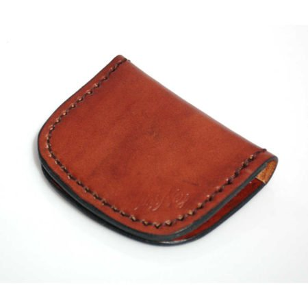 Porte-monnaie plat en cuir