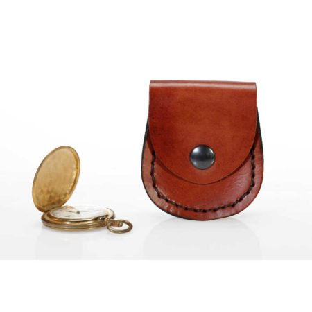 porte montre gousset en cuir naturel