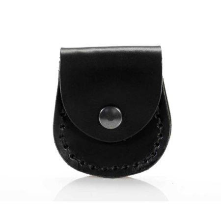 Porte montre gousset en cuir noir