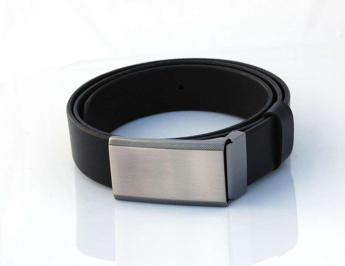 Ceinture en cuir noire, boucle habillée « Jef » - Cuirs Ney eec3355f37f
