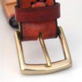 Ceinture marron en cuir naturel - boucle « Jean-Pierre »