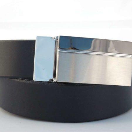 """Ceinture noire en cuir avec boucle à griffe """"Jérôme"""""""