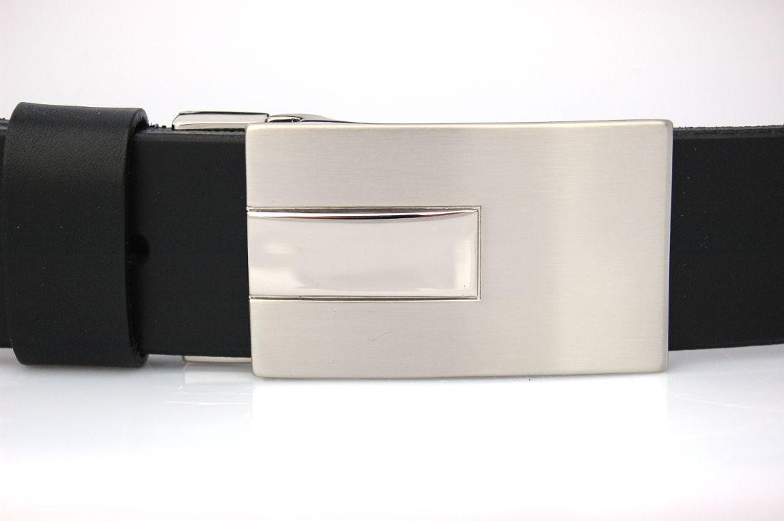 Ceinture en cuir noir, avec boucle habillée « Julien » - Cuirs Ney e9efe16c9fa