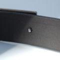 """Ceinture noire en cuir de 3,5 cm - boucle habillée """"Philippe"""""""