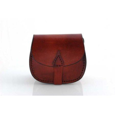 """Petit sac en cuir avec bandoulière """"Agathe"""""""