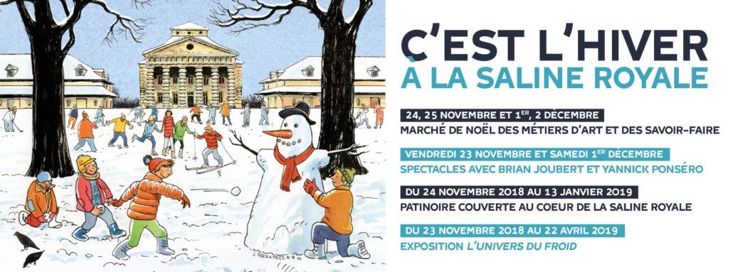 Marché de Noël aux salines royales d'Arc et Senans 2018