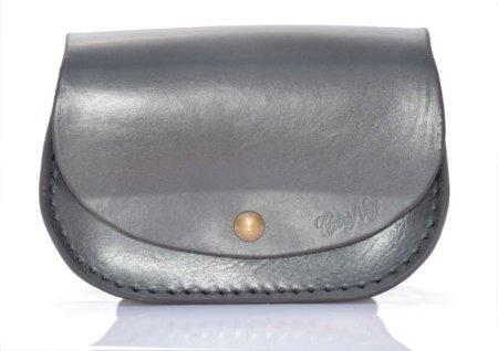 """Petit sac gris en cuir avec bandoulière """"Ema"""""""