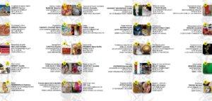 Trésors visibles - Talents cachés, liste des artisans