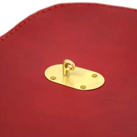"""Sac rouge à bandoulière en cuir """"Baze"""""""
