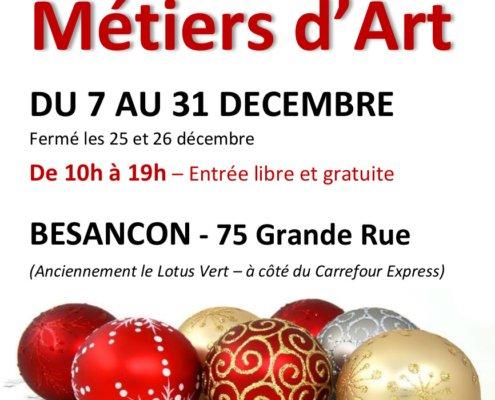 Boutique éphémère à Besançon du 7 au 31 décembre 2019