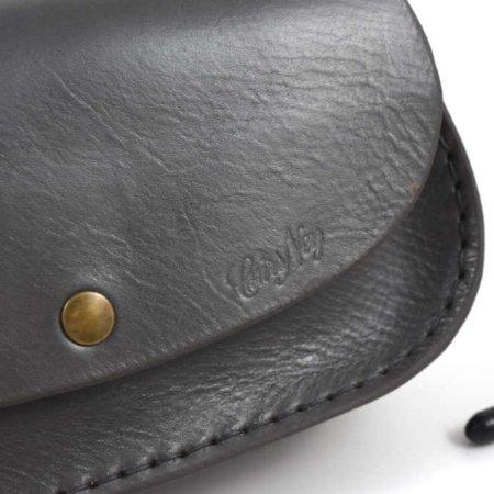 """Sac gris en cuir avec bandoulière """"Ava"""""""