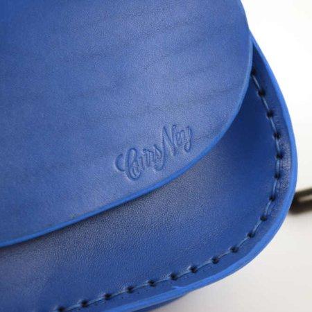 "Sac bleu en cuir avec bandoulière ""Ava"""