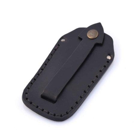 Étui à clés ou porte-clés noir en cuir