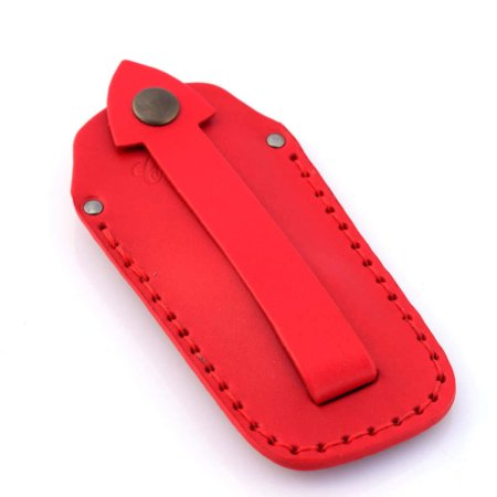 Étui à clés ou porte-clés en cuir rouge