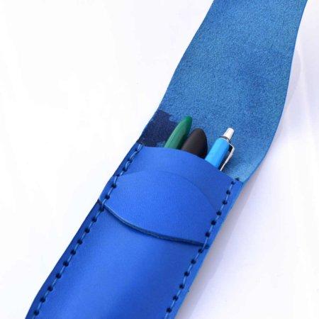"""Étui à stylos en cuir bleu claire by """"Les Cuirs Ney"""""""