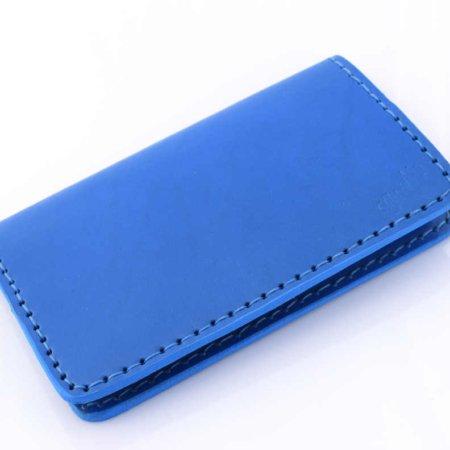 Porte chéquier bleu clair en cuir, talon haut