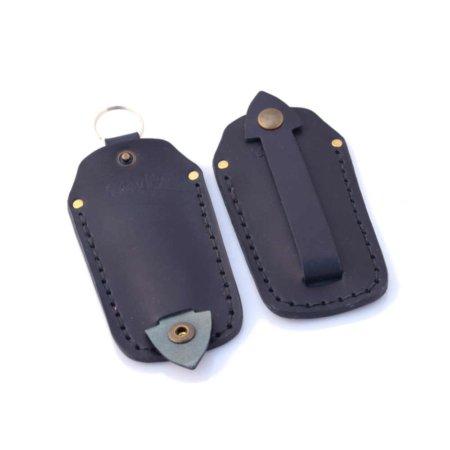 Etui à clés ou porte-clés en cuir bleu marine
