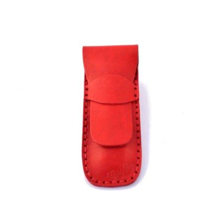 """Étui à stylos rouge en cuir by """"Les Cuirs Ney"""""""