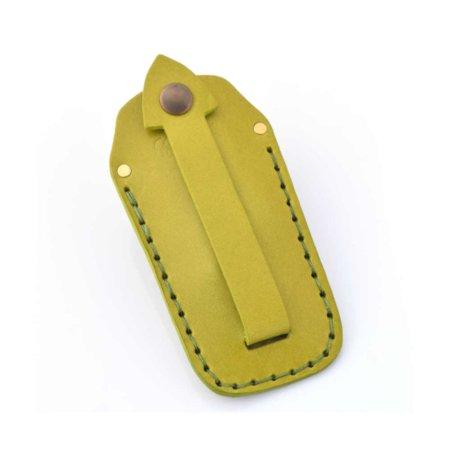 Étui à clés ou porte-clés en cuir vert clair