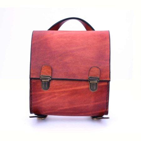 """Sac à dos en cuir """"petit modèle"""" - fabrication artisanale"""