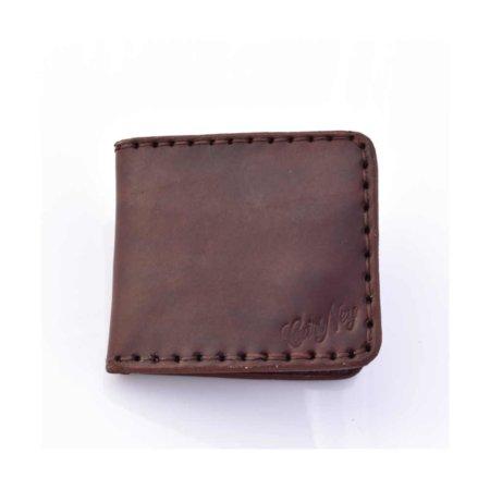 Porte-cartes bancaires en cuir marron chocolat