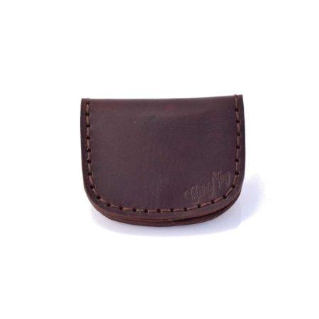 "Porte-monnaie plat marron chocolat en cuir by ""cuirs Ney"""