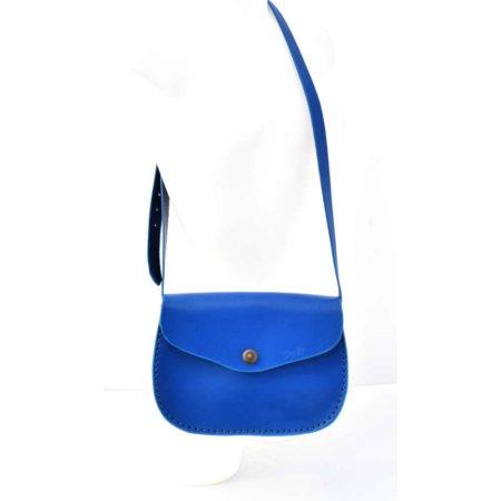 """Sac bleu clair en cuir à bandoulière """"Cerise"""" pour femme"""