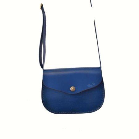 """Sac bleu marine en cuir à bandoulière """"Cerise"""" pour femme"""