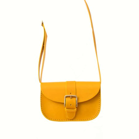 """Sac jaune pour femme à bandoulière """"Joly"""", en cuir"""