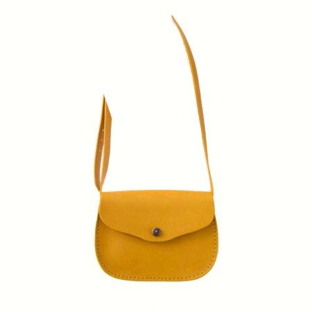 """Sac jaune en cuir à bandoulière """"Cerise"""" pour femme"""
