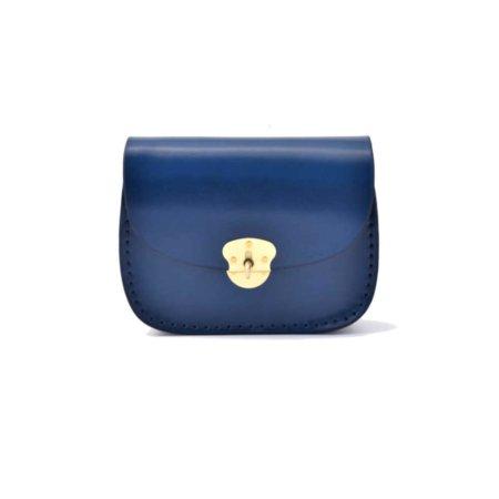 """Sac bleu en cuir pour femme """"Hecht"""" à bandoulière"""