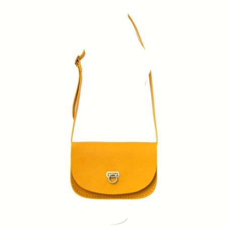"""Sac jaune pour femme en cuir à bandoulière """"Pom"""""""