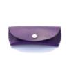 """Étui à lunettes en cuir violet - by """"Les Cuirs Ney"""""""