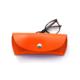 """Étui à lunettes en cuir orange - by """"Les Cuirs Ney"""""""