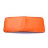 Porte-cartes bancaires en cuir orange