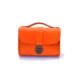 """Porte monnaie en cuir orange de type """"Cartable"""""""