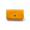 """Porte-monnaie """"Grand Père"""" en cuir jaune (gd modèle)"""