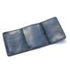 Portefeuille en cuir bleu à 3 volets