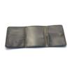 Portefeuille en cuir gris à 3 volets