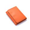 Portefeuille en cuir orange à 3 volets