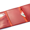 Portefeuille en cuir rouge à 3 volets