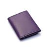 Portefeuille en cuir violet à 3 volets