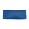 Trousse en cuir bleu clair - tannage végétal